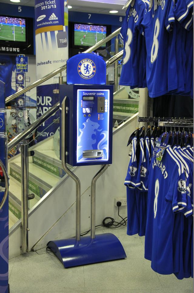 Chelsea Megastore medal machine